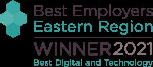 Best Employers Eastern Region Winner Best Digital and Technology Award